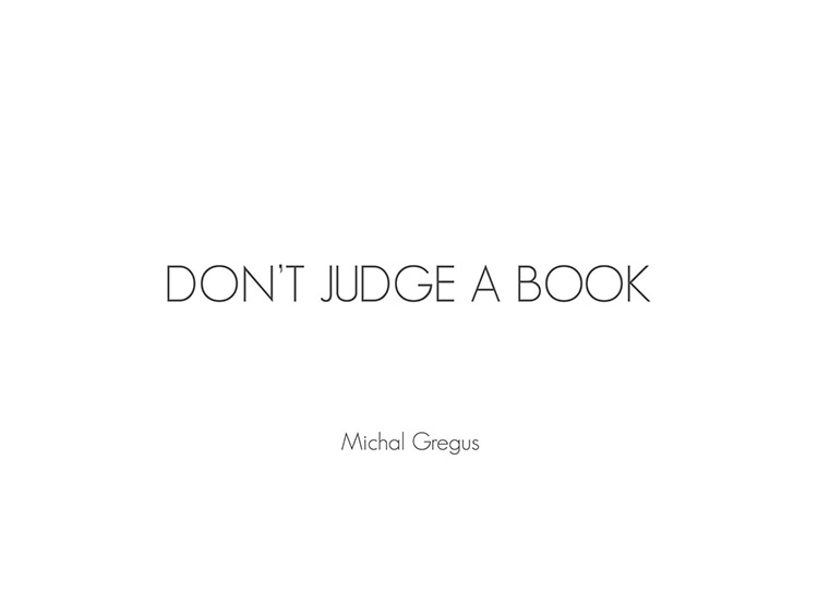 Don't Judge A Book